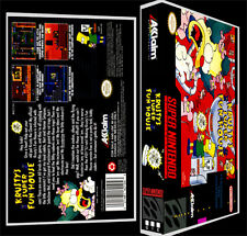 Krustys Super Fun House - SNES Reproduction Art Case/Box No Game.