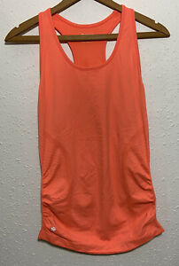 Athleta Speedlight Tank Size M Orange Top Racer Back