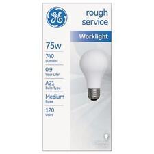 Sli Lighting 18274 Rough Service Incandescent Worklight Bulb, A21, 75 W, 1230 Lm