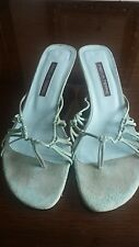 Pied A Terre Turquoise Suede Sandals Size 40.5 Good Used Condition