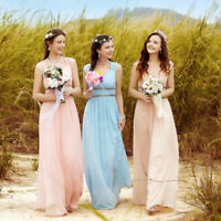 Ever-Pretty Long Beades Chiffon Bridesmaid Party Dresses Formal Prom Gown 08697