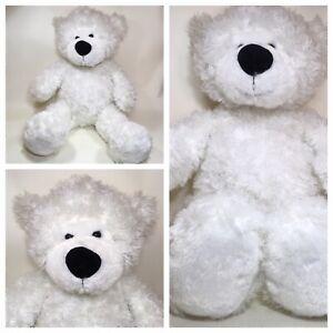 """Hugfun Polar Bear Plush Stuffed Teddy White 16"""" Tall Soft"""