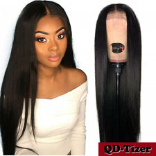 Pre Plucked Synthetic Lace Front Soft Hair Wigs Black Natural Hairline 24 inch