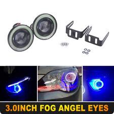 "Blue 3"" Inch 76MM COB LED Fog Light Projector Car Angel Eyes Halo Ring DRL Lamp"