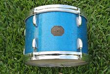 "RARE 60s/70s GRETSCH 12"" BLUE SPARKLE TOM fr YOUR PROGRESSIVE JAZZ DRUM SET B981"
