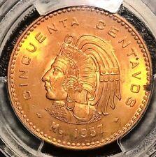 1957-Mo Mexico 50 Centavos PCGS MS64RD
