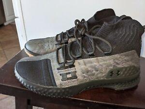 Men's Under Armour Project Rock 1 Shoes Sz 10.5 Black & Green 3020788-002
