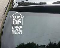 This way up Funny Car/Bumper/Window JDM VW EURO Vinyl Decal Sticker 200mm