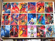 1994 DC COMIC MASTER SERIES 90 CARD SET! BATMAN SUPERMAN WONDER WOMAN AQUAMAN!