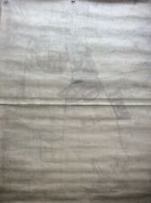 More details for huge antique 1920s york cloth wall map heworth walmgate heslington layerthorpe