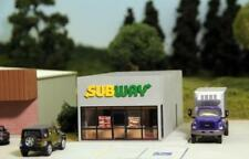 SUBWAY RESTAURANT New LOGO Building KIT 76x159x57mm HO 1/87 scale SUMMIT SW-002