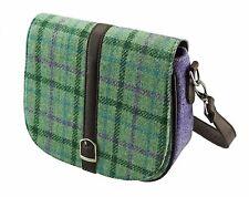 Authentic Ladies Harris Tweed Shoulder Bag Mint Green/Purple  LB1000 COL49
