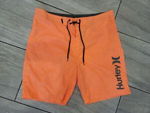 Men's 36 Hurley lightweight bright Orange board / swimming shorts / trunks