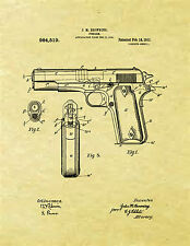 Display Art Print US PATENT for COLT 1911 FIREARM Browning Gun 45 1911