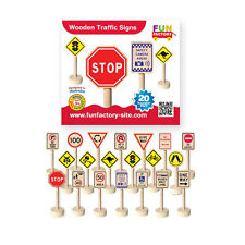 Wooden Early Learning Australian Theme Traffic Signs Toy