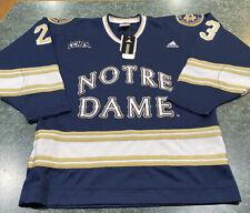 Adidas Notre Dame Fighting Irish Authentic Sewn Hockey Jersey CCHA Sz Small *NEW