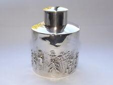 Antiguo Charles Horner Eduardiano Sólido Plata Esterlina Tea Caddy Birmingham 1905