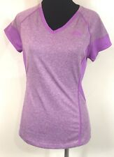 THE NORTH FACE PURPLE V NECK FLASHDRY ATHLETIC SHORT SLEEVE TOP SIZE SMALL