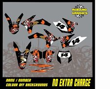KTM 1999-2019  MOTORCROSS graphics kit sx sxf xc exc  50 65 85 125 150 250 450