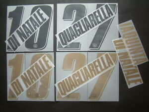 KIT NOME+NUMERO UFFICIALE UDINESE HOME/AWAY 2007-2010 OFFICIAL NAMESETS PL SZ