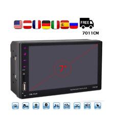 """7"""" Pantalla Táctil GPS Estéreo Coche USB/FM/Aux 2 Din Bluetooth MP5 Reproductor"""