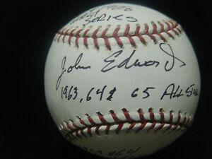 John Edwards 3x All Star 2x Gold Glove Cincinnati Reds autographed MLB baseball