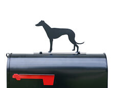 Greyhound Silhouette Mailbox Topper / Sign - Powder Coated Steel - Made in USA