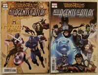 War of Realms New Agents of Atlas 1 Connecting Realms Variant and Regular Cover