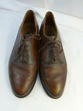 DANIEL HECHTER Paris Duo-color Mens Cognac Brown TIE SHOES Mens 10 E