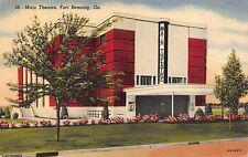 Linen Postcard Main Theatre in Fort Benning, Georgia~110120