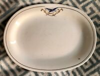 "RARE Antique S. P. CO. Sebring BLUEBIRD 12"" OVAL PLATTER M 22 Ohio"