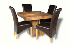 DINING ROOM DAKOTA 90CM CUBE DINING TABLE & 4 BLACK ROLLBACK CHAIRS (48L&4A1LR)