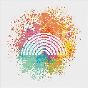 Rainbow Cross Stitch Pattern by Meloca Designs