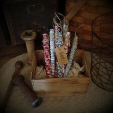 Primitive Firecrackers~Bowl Fillers~Americana~Patriotic~Set of 8~Boom~Red~White