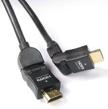 Maxicom HDMI to HDMI 90/180 Degree(L shape) High Speed Cable Black - 1.5M