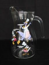 Epcot Disney 2018 Food & Wine Passholder Figment & Mickey Mouse Glass Pitcher