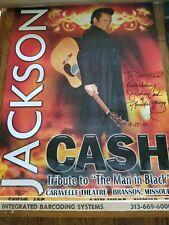 JACKSON CASH POSTER TRIBUTE TO THE MAN IN BLACK BRANSON MISSOURI SIGNEDP