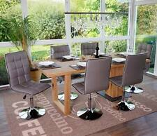 6x chaise de salle à manger Dieburg, fauteuil, similicuir ~ taupe