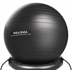 65cm Exercise Yoga Ball With Pump - Anti Burst Slip Resistant Balance Stability