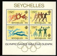 Seychelles 1984 Olympic Games - Los Angeles, USA Mini Sheet