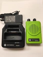 Motorola Minitor V 5 Vhf High Band Pager 151-159 Mhz Sv 2-Chan Apex Green W/Chgr