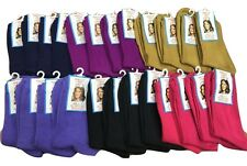 4 pairs of lady Ankle socks 4-7 Gold Hot Pink Lilac Black Navy Purple Grey Blue