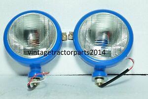 Ford Tractor Head Light Set (LH & RH) - 12 V Blue