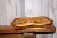 2 Vintage wicker fruit bowls/baskets