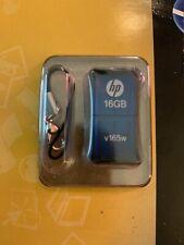 HP v165w 16GB USB 2.0 Flash Pen Drive - Blue New Retail Pack, Mini Mobile Design