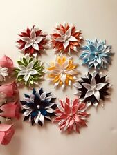 Lot of 8 Kanzashi Hair Bows Handmade