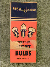 Box of 10 Vtg. WESTINGHOUSE No.1445 Miniature Lamps Light Bulbs NOS 18v 15a-EB25