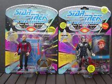 STAR TREK Next Gen Action Figures - Lot of 2 - PICARD & LOCUTUS Playmates NOC