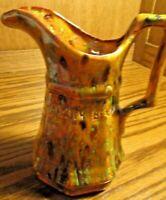 Vintage Pottery Table Creamer Speckled Glazed Pitcher 'Panama City Beach'    129