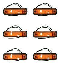 6x LED Umrissleuchte E9 Begrenzungsleuchte Seitenleuchte gelb LKW PKW Anhänger